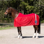 Charleston Fleece Netdeken Horze-205-Helderrood
