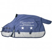 Deken Thor 0 grams Fleece met Print Harrys Horse-215-Crown Blue