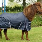 Harry en Hector Pony Outdoor Waterdichte Regendeken Blauw Fleece