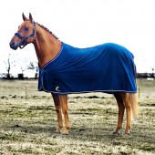 Showdeken Fleece Donkerblauw