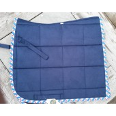 Suède Dressage Pads Friesch Dark Blue Full