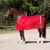 Charleston Fleece Netdeken - Helderrood